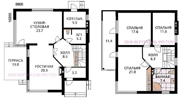 Лучший проект дома из пеноблоков 2010